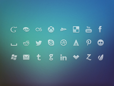 Red social Icons(PSD)