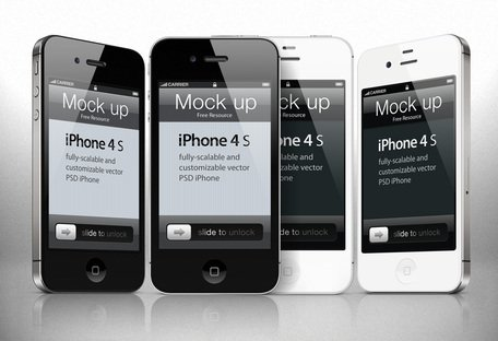 iPhone 4s Psd vektor Mockup mall