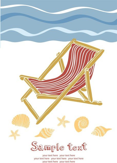 Beach chair summer