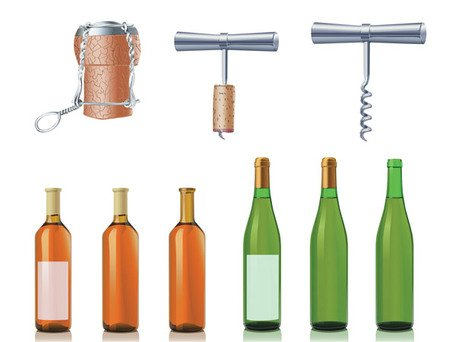 Vector material with bottle opener