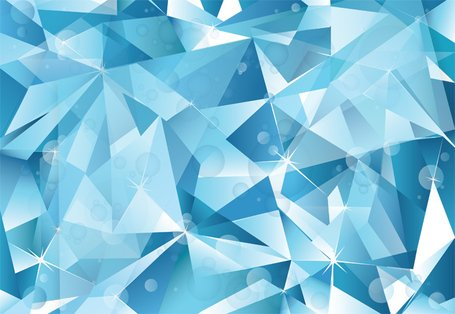 Abstract Blue Cubist Vector Ice Background