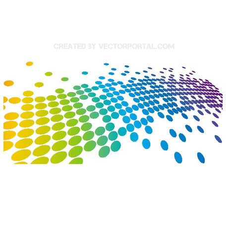 ABSTRACT VECTOR ILLUSTRATION WITH COLORFUL DOTS.eps