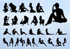 Mulheres Vector Silhouettes