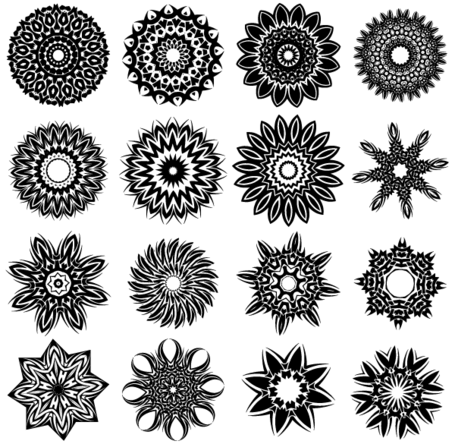 Free Tribal Flower Tattoo Designs