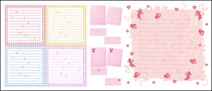 Writing pads, heart-shaped