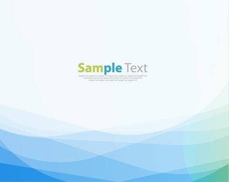 Free Abstract Blue Green Wave Background Vector Illustration