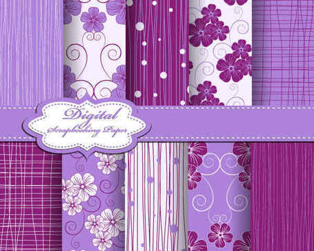Purple Fabric lines Patterns
