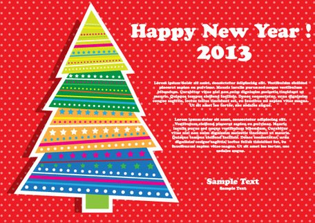 Happy New Year 2013 Christmas Tree
