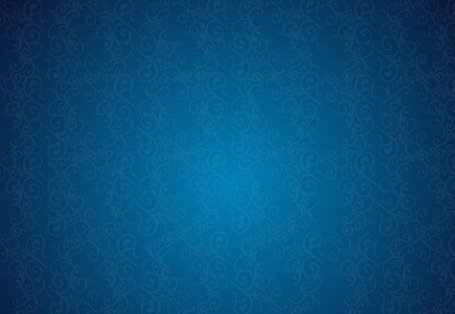 Retro Background Floral Blue Pattern