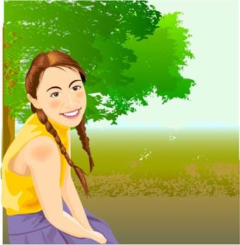 Sit girl position vector 20