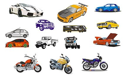 Automobile and motorcycle