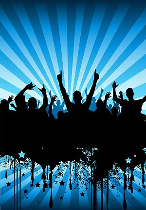 Party People silhouettes vector material the tide of