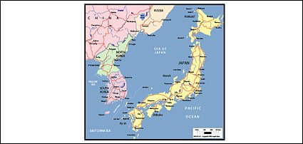 Vector map of the world exquisite material - Japan Maps