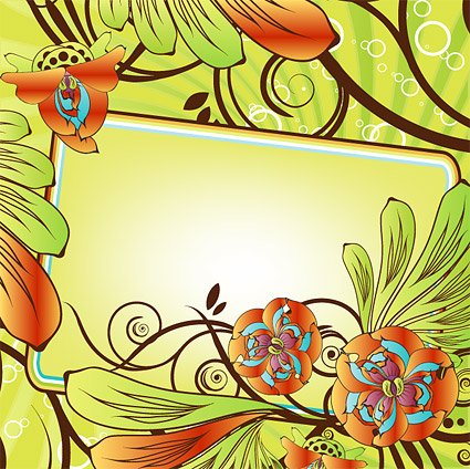 Exquisite flower decoration frame