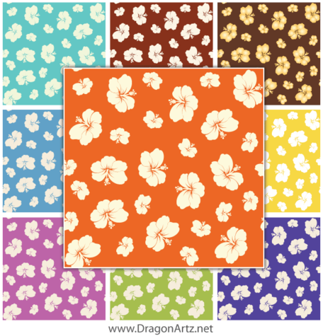 Free Summer Flower Seamless Pattern