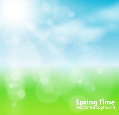 Spring Sun Nature Background