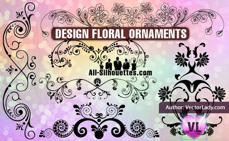 11 Floral ornaments design