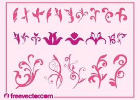 Pink Flowers Graphics Set