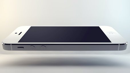 iPhone 5 Levitation Mockup PSD