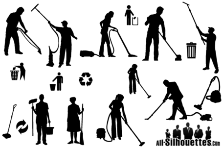 Free Vector Cleaner Silhouettes 27140 on designer home appliances