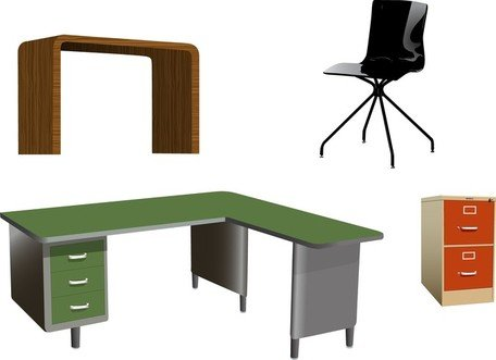 Office Room Clip Art - Office Furniture Vectors Warm Project On ...
