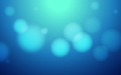 Blue Background with Blurry Bokeh Bubbles