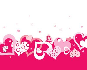 Stock Vector: Vector valentine background with heart