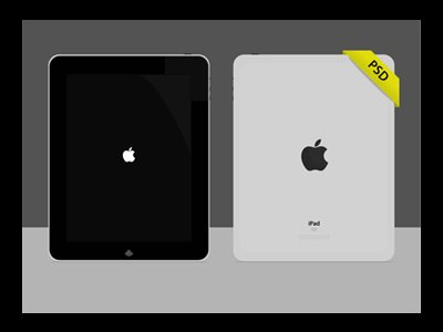 iPad PSD Vector