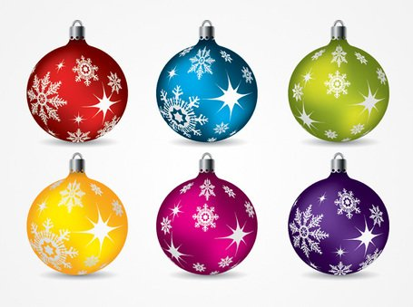 Christmas Balls Ornaments Vector Clip Art (Free) - Free Christmas Balls Ornaments Vector Clip Art (Free) Clipart And