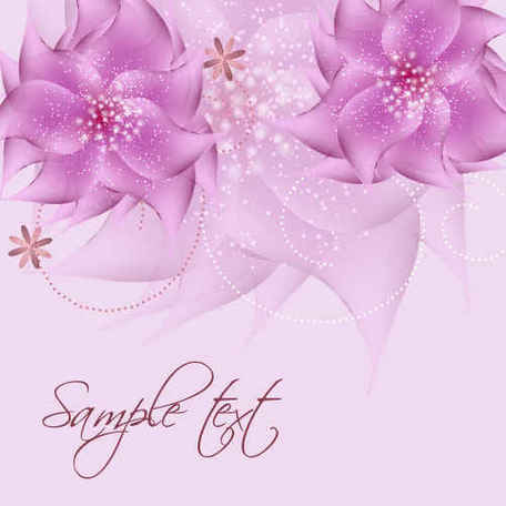 Romantic flowers purple background