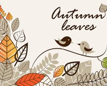 Autumn Background with Bird