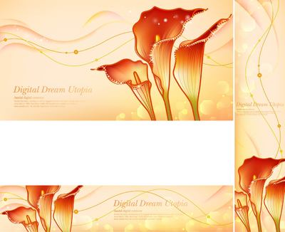 Golden Dream Red Zantedeschia Backgrounds