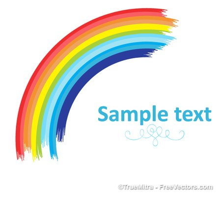 Curved Rainbow Banner