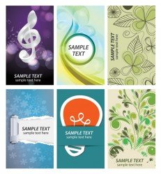 Gratis business card collectie vector set