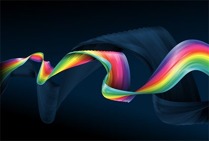 Vector colorful cloth material