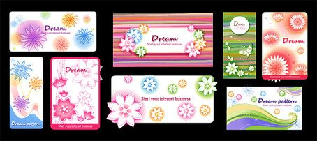 Dynamic vector fashion flowers background material