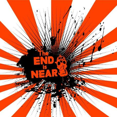 END IS NEAR VECTOR ILLUSTRATION.eps