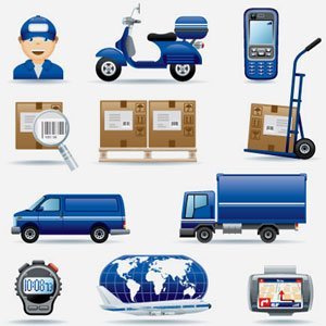 Stock lOGISTIC-icône Illustrations