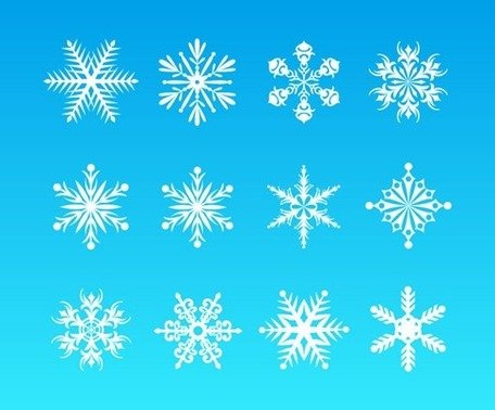 Vector Snowflakes Set for Christmas Design