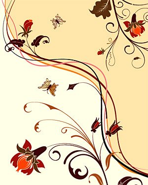 Vector fashion flowers background element material