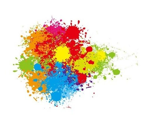 Abstract Colorful Splashes Vector Graphic Art