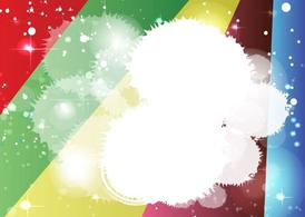 Arcobaleno Starburst Background