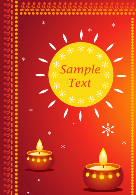 Happy Diwali Greeting Cards Vector Free