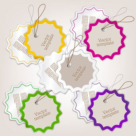 Exquise creatieve label sticker vector-9