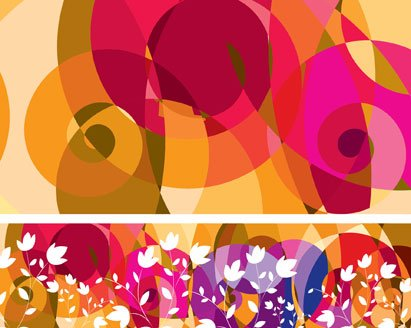 Mode libre modèle Vector Background Abstract Floral