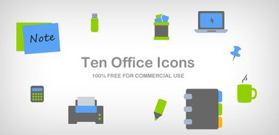 10 office icons – part 1 (Free PSD and PNG)