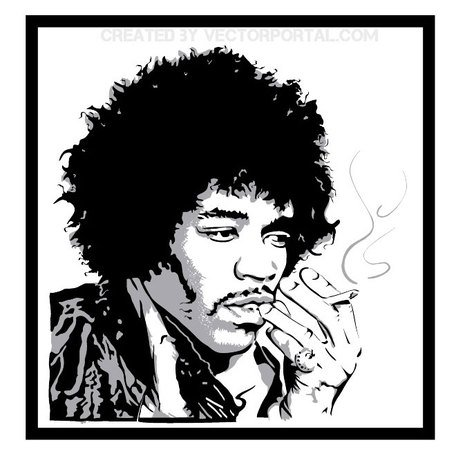 JIMMY HENDRIX VECTOR PORTRAIT.eps, Cliparts - Clipart.me