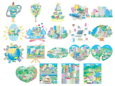 Urban Theme Vector Illustration material