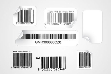 Vector Barcode Sticker illustraties (gratis)