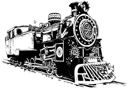 Black-and-white Locomotive